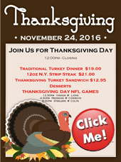 Join us for Thanksgiving Dinner at Summers!