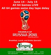 Join us for FIFA World Cup Russia 2018 at Summers!